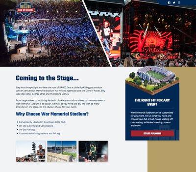 War Memorial Stadium Landing Pages