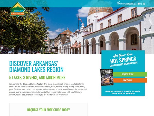 Diamond Lakes Landing Pages